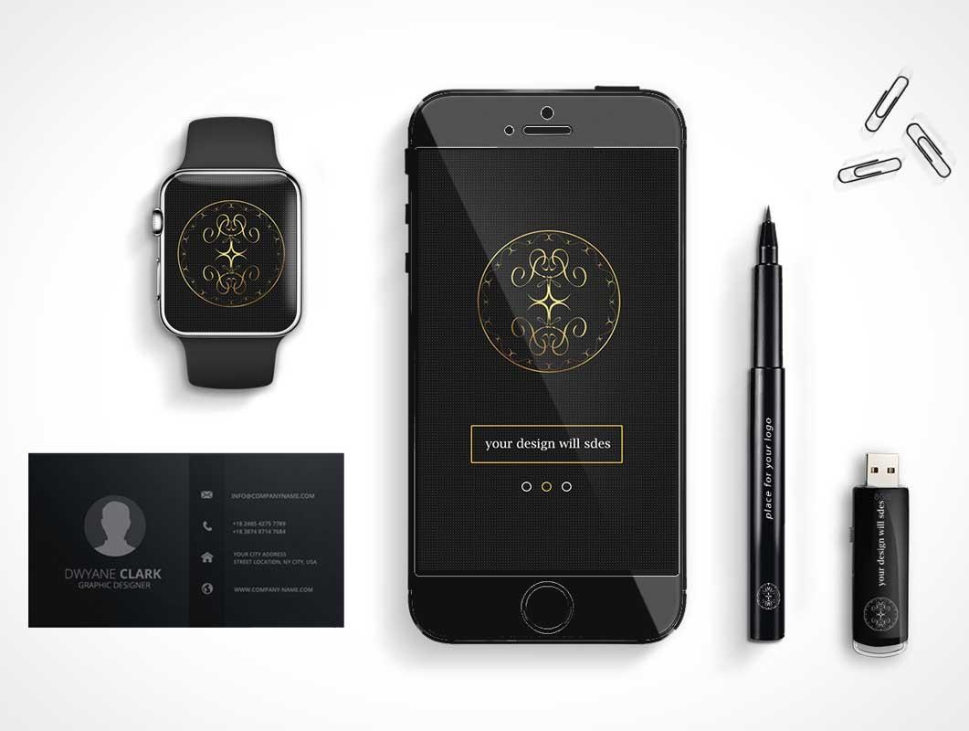 Executive Brand Items PSD Mockup
