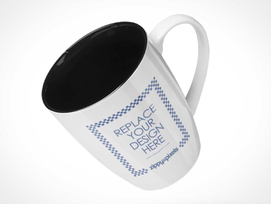 Floating Ceramic Marrow Mug PSD Mockup
