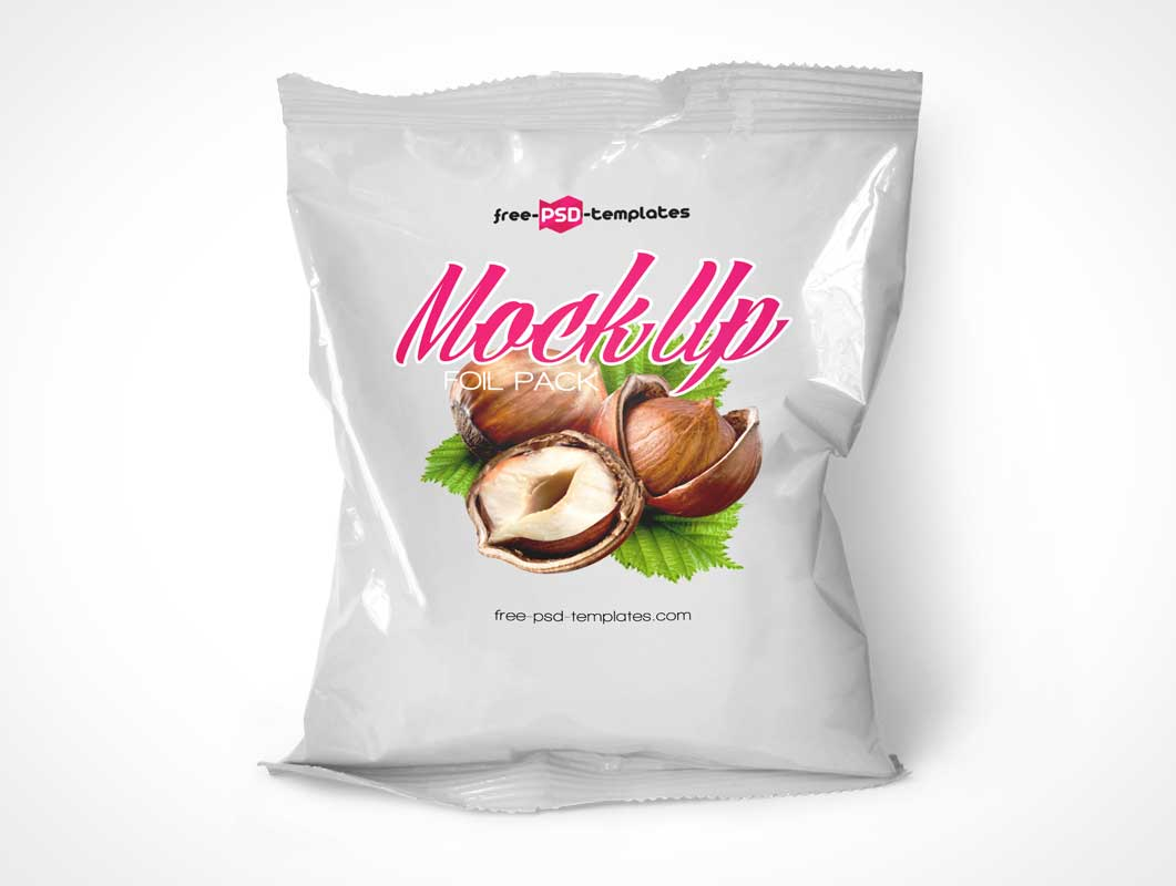Foil Sample Pack Bag PSD Mockup