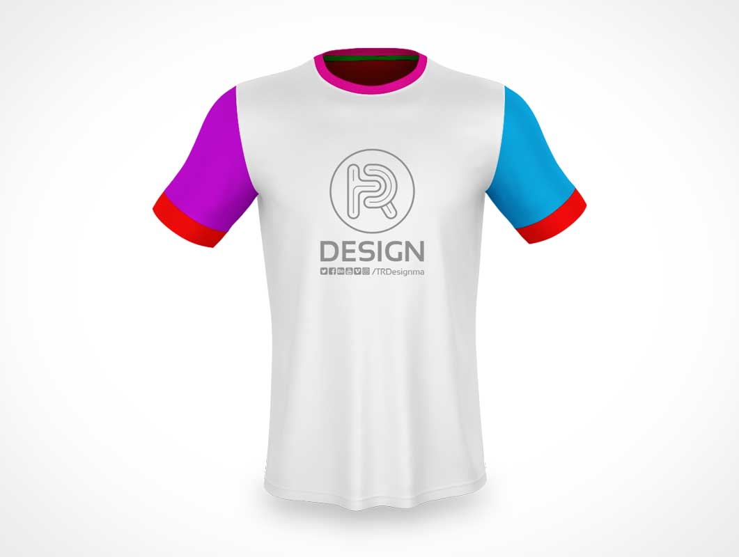 Free Sporty T-shirt PSD Mockup