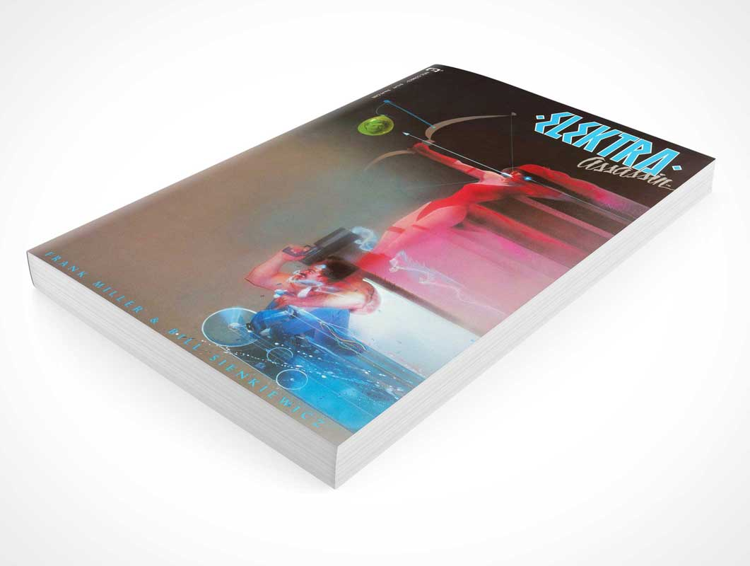 Graphic Novel Comic Book Front Cover PSD Mockup