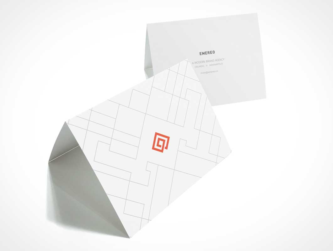 Greeting Cards Offset Product Shot PSD Mockup