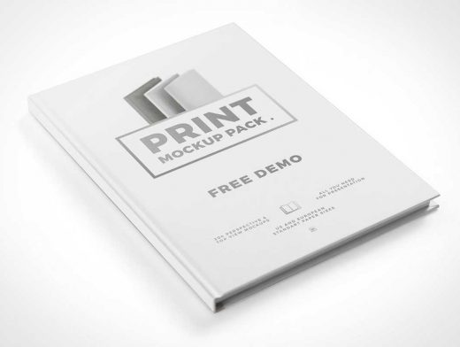 Hardcover Print Book Demo Pack PSD Mockup