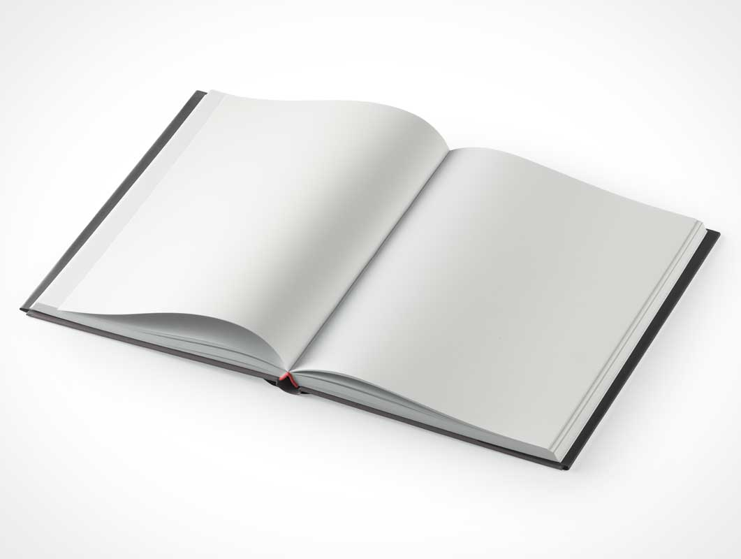 Hardcover Textbook With Dust Jacket Sleeve PSD Mockup