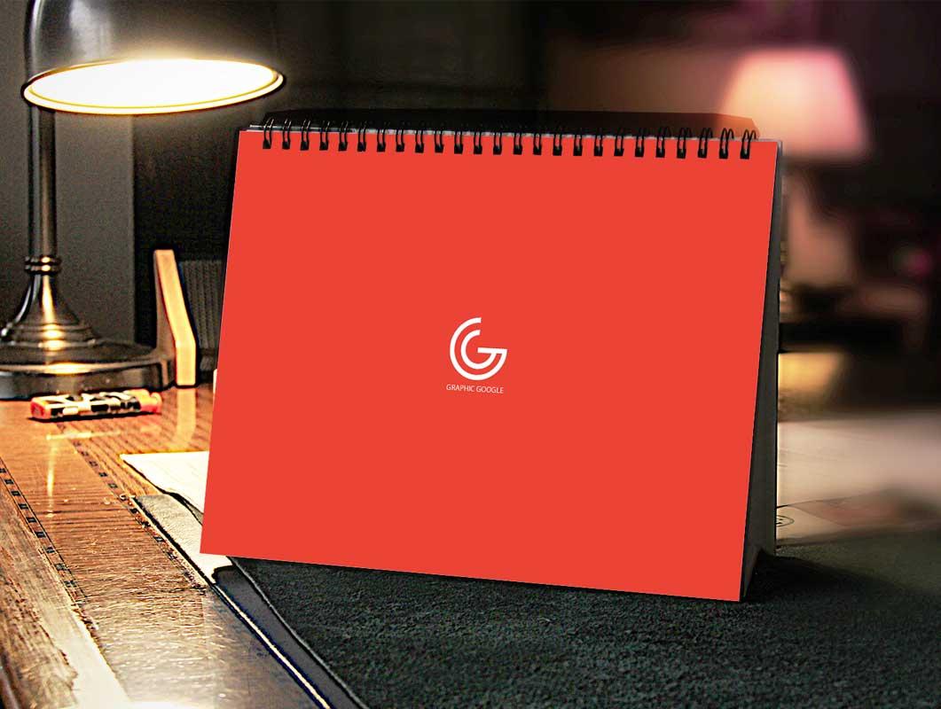 Home Office Calendar PSD Mockup