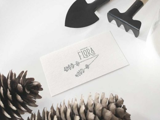 Horticulture Invitation Card PSD Mockup