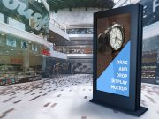 Interactive Mall Billboard Poster PSD Mockup