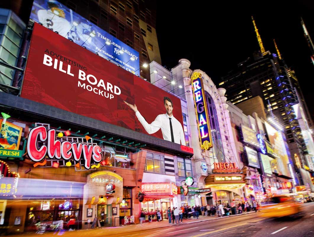 Large Advertising Billboard PSD Mockup
