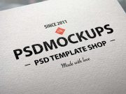 Logo Printed On Natural Corporate Letterhead Paper PSD Mockup