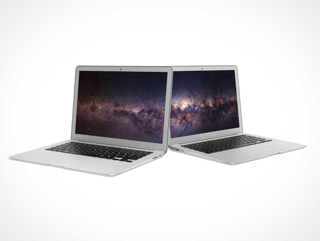 MacBook Air Product Promotion PSD Mockup