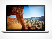 MacBook Pro Front Screen Display PSD Mockup