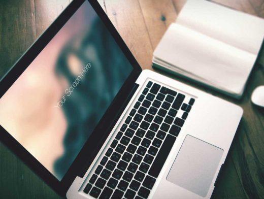 Macbook Pro & Notebook Photorealistic PSD Mockup