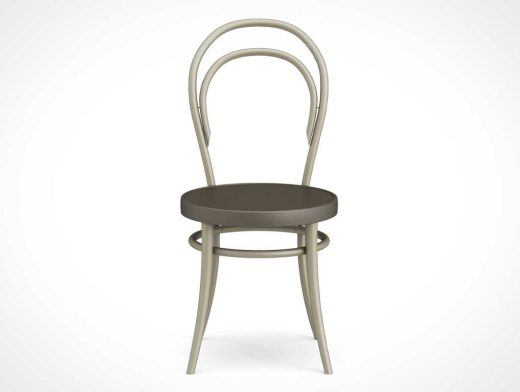 Modern Chair Front View PSD Mockup