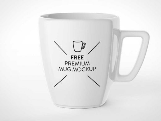 Modern Marrow Ceramic Mug PSD Mockup
