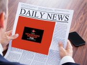 Newspaper Front Page In Hand PSD Mockup