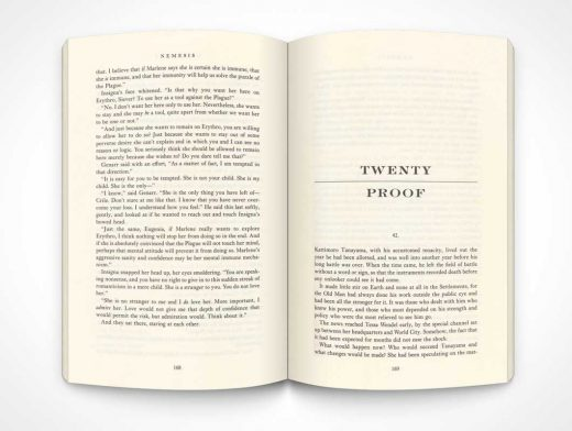Paperback Top View Left & Right Inside Pages PSD Mockup