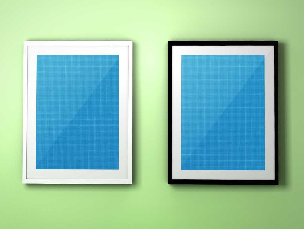 Photo Frame Colourful Background PSD Mockup