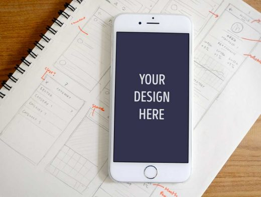 Photorealistic iPhone 6 & Nexus 5 PSD Mockups