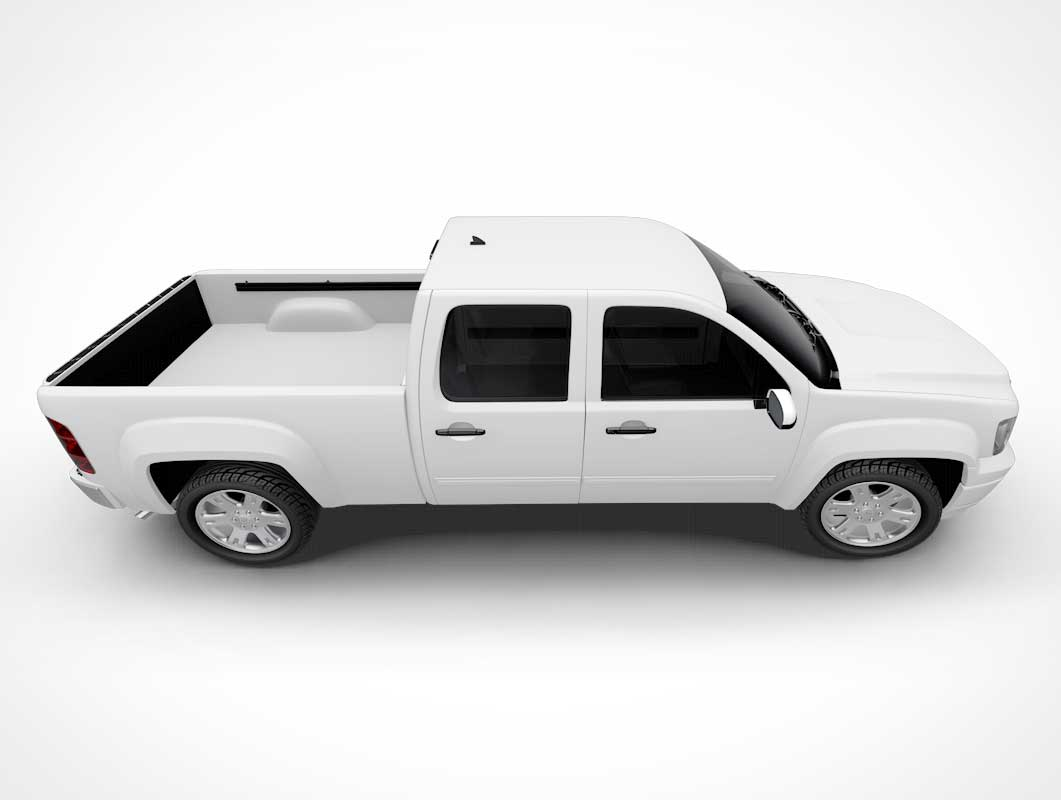 Pickup Truck Bed & Hood PSD Mockup