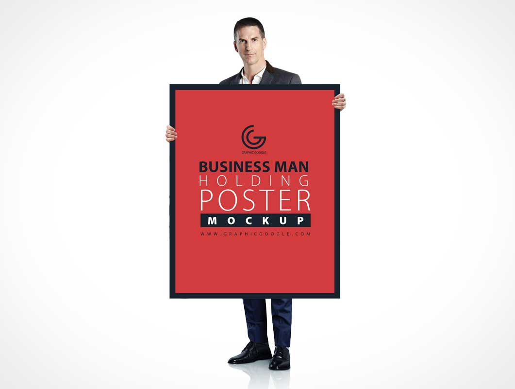 Poster & Frame Presented By Salesperson PSD Mockup