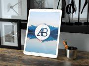 Realistic 12.9 Inch iPad Pro PSD Mockup