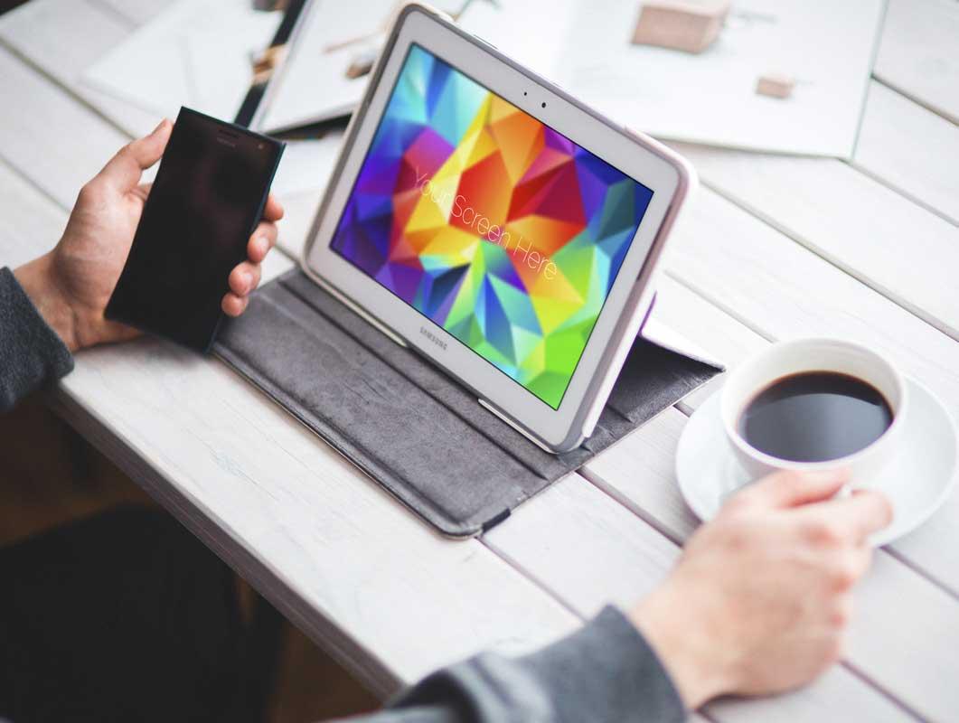 Samsung Galaxy Note & Tablet PSD Mockup