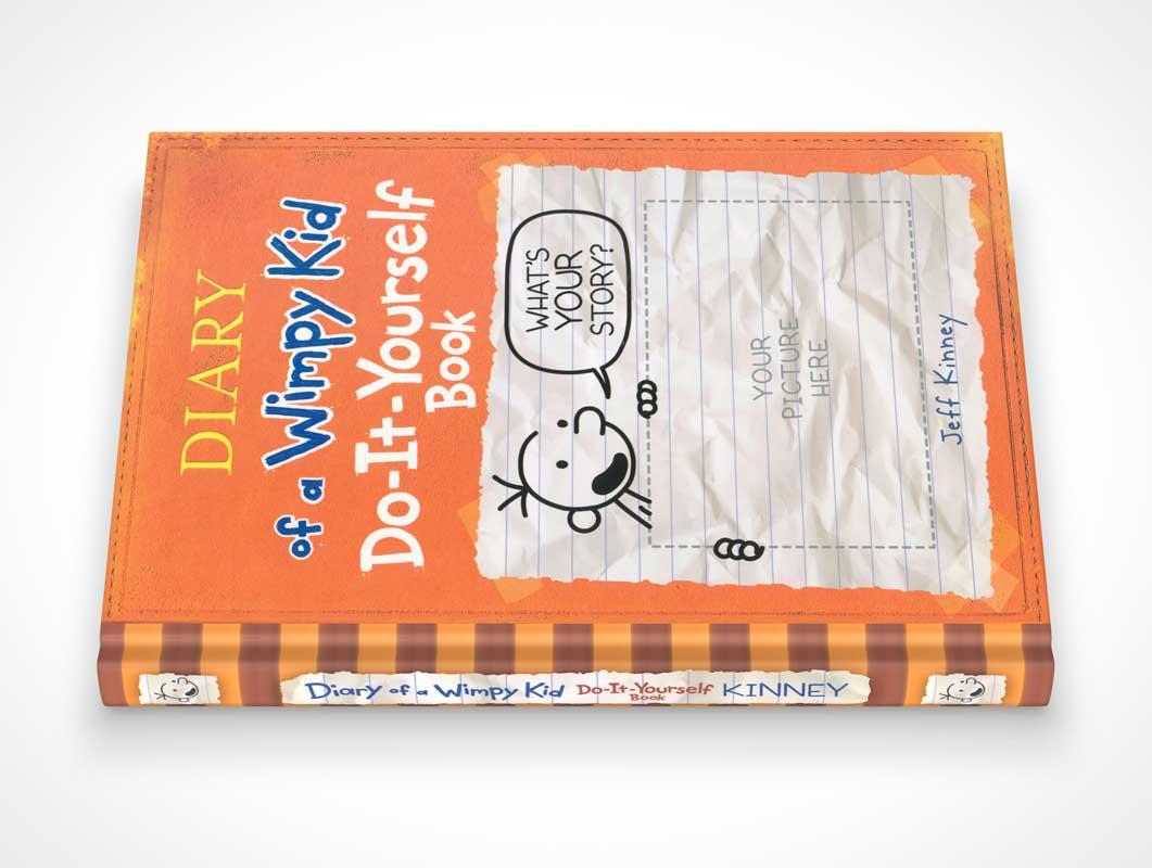 Spine Sideview Hardbound Children's Book PSD Mockup