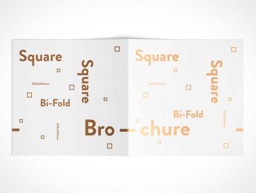 Square Bi-Fold Brochure Back Covers PSD Mockup
