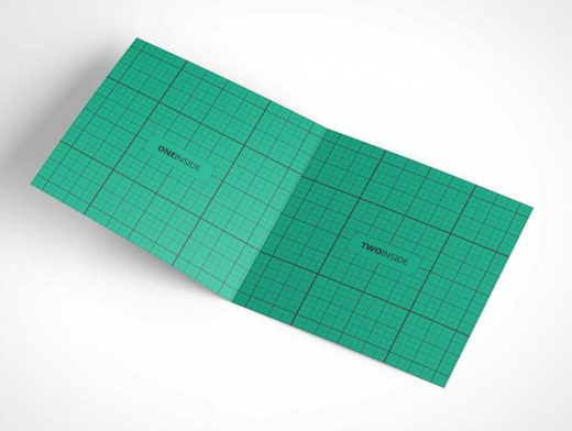 Square Invitation & Greeting Card PSD Mockup