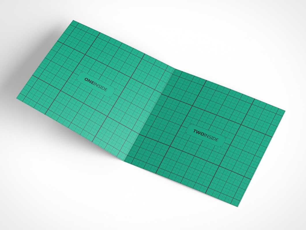 Square Invitation Greeting Card Psd Mockup Psd Mockups