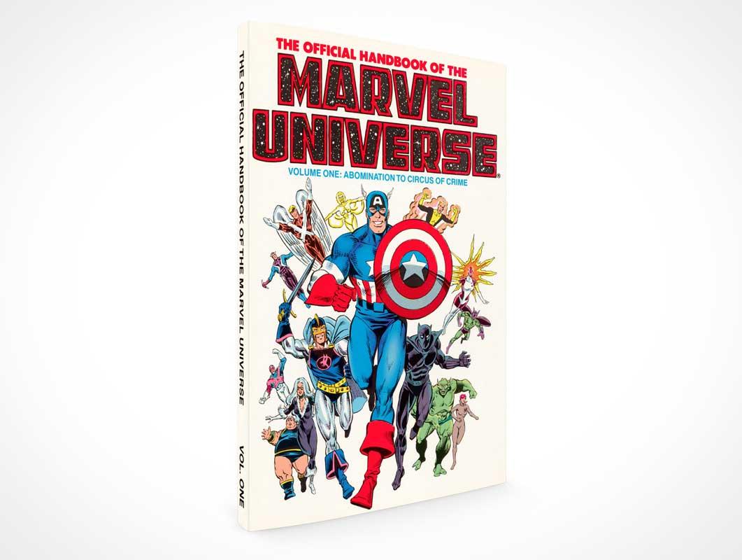 Standing Graphic Novel Book PSD Mockup
