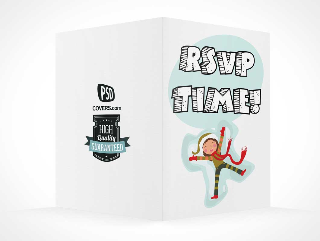 Standing RSVP Card PSD Mockup Covers View