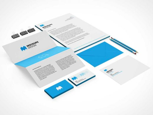 Stationery Corporate Identity Presentation PSD Mockup