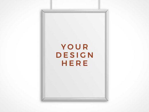 Steel Frame Poster PSD Mockup