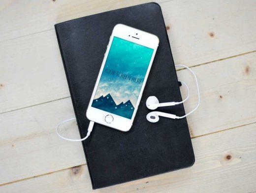 Super High-Resolution iPhone SE PSD Mockups