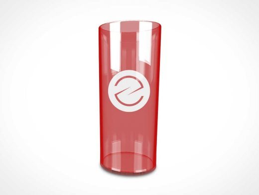 Tall Plastic Drink Glass PSD Mockup