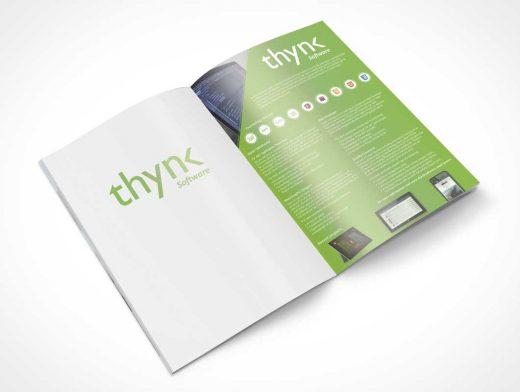 Thynk Software Magazine Centrefold PSD Mockup