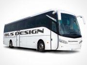 Tour Bus Front & Side Views PSD Mockup