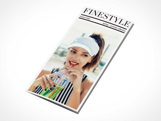 Tri-Fold Fashion Flyer Leaflet PSD Mockup