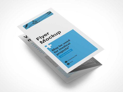 Tri Fold Flyer Z Pattern PSD Mockup
