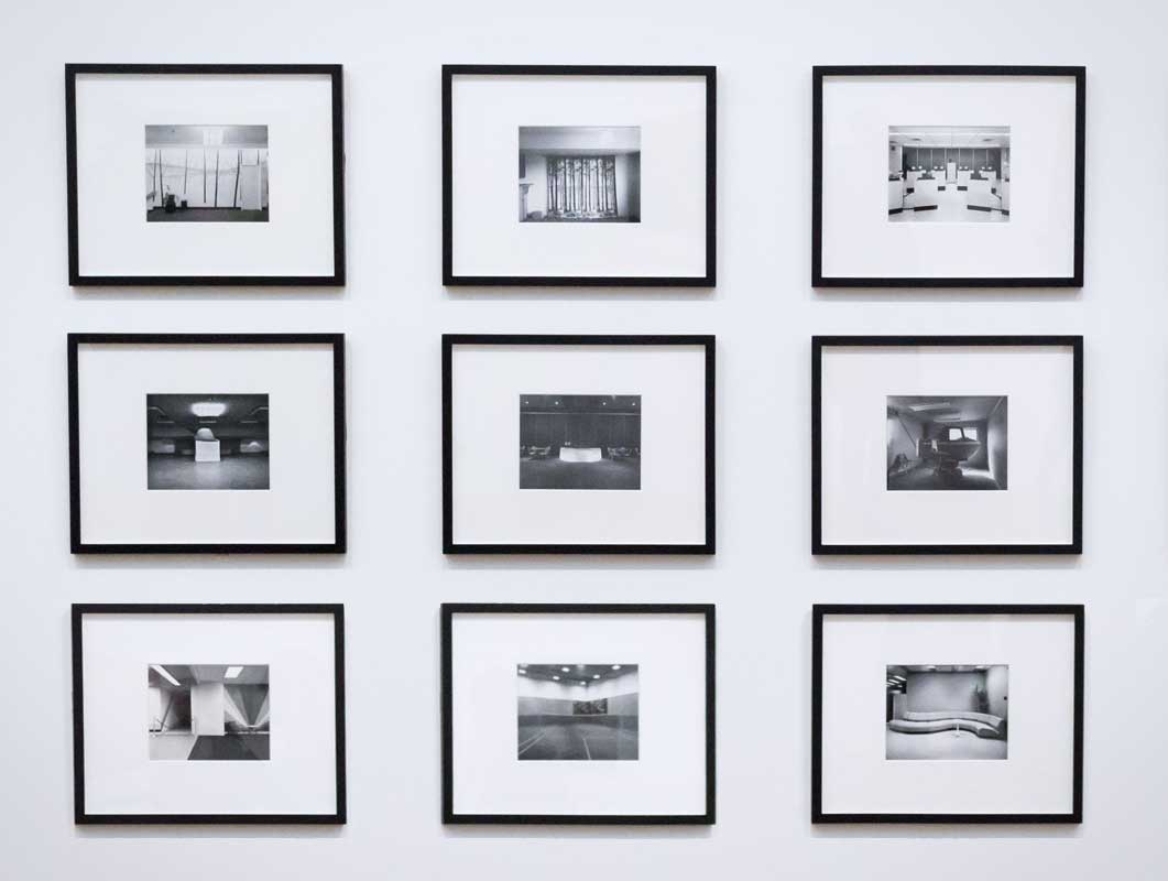 Wall Of Framed Photos & Various Poster Scenes PSD Mockup