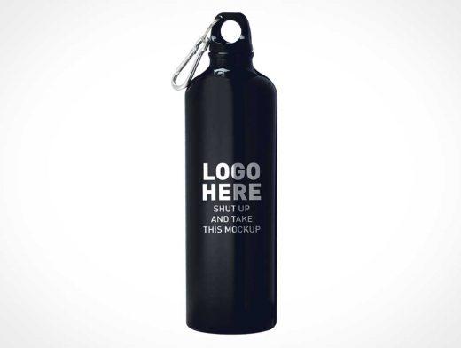 Water Bottle Aluminium Body Amp Clip Spout Psd Mockup Psd