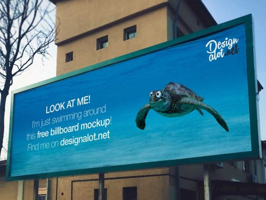 Wide 3:1 Outdoor Billboard PSD Mockup