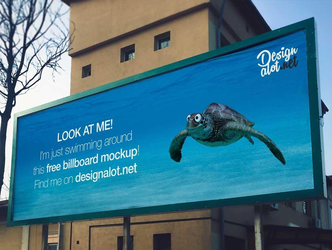 Wide 3:1 Outdoor Billboard PSD Mockup