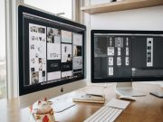 iMac Dual Monitor Setup With Thunderbolt Display PSD Template