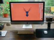 iMac Home Office Environment PSD Template