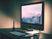 iMac Photorealistic Evening PSD Mockup