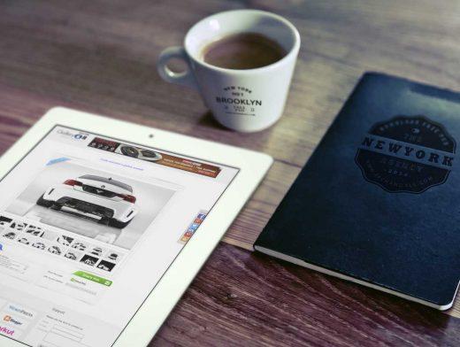 iPad, Cup & Notebook Logo Branding PSD Mockup