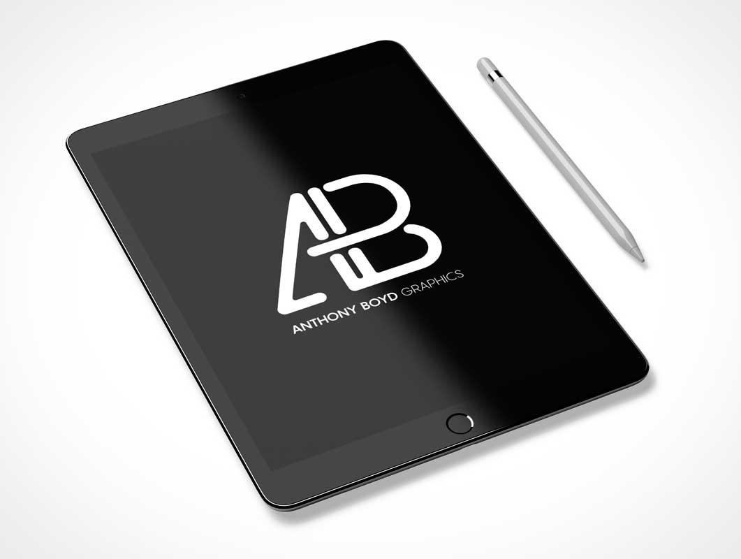 iPad Pro & Apple Pen Product Shot PSD Mockup