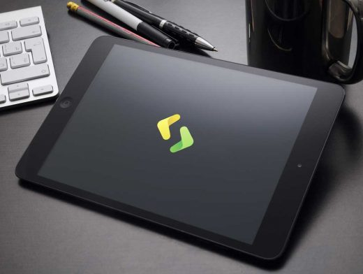 iPad Product Shot Photo PSD Mockup